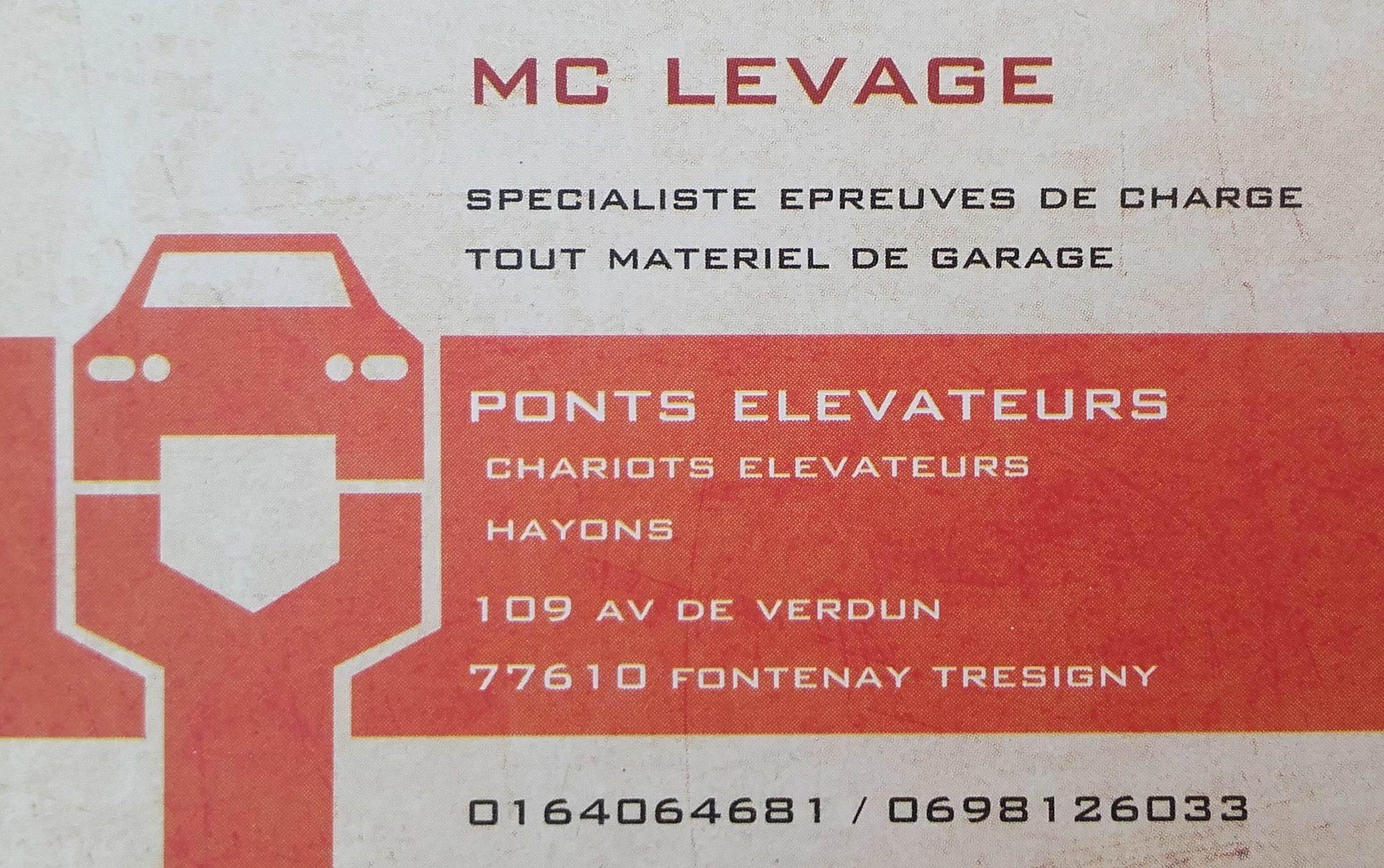 contact soc mc levage au travers de la carte de visite